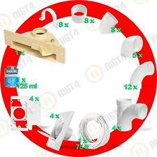 New Central Vacuum White 4-Inlet Installation Kit and Almond Vacpan