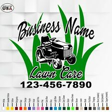 Lawn Care Business Vinyl Truck Door Lettering Landscaping Truck Door Decals