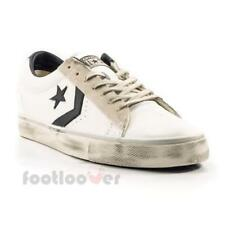 Converse Pro Leather Vulc Distressed Ox 156741C Mens Shoes White Black Sneakers