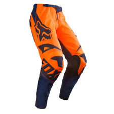 FOX RACING YOUTH KIDS MOTOCROSS MX180 PANTS ORANGE BLUE child quad bike trousers