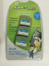Leap Frog iQuest Math Science Social Studies Interactive Learning 5th Grade