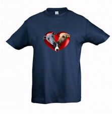 Whippets in a Heart Kids Dog-Themed Tshirt Childrens Tee Xmas Gift Birthday Gift