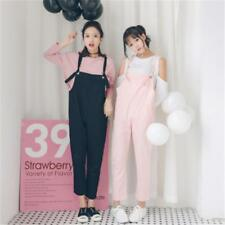 Cotton Rompers Linen Women Jumpsuits Casual Bodysuits Loose Pants Pink Pockets