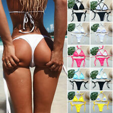 Womens Bikini Set Bandage Push-Up Padded Swimwear Swimsuit Bathing Brazilian AP