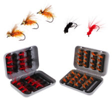 Fly Fishing Flies with Box 32pcs Dry Flies Salmon Trout Fishing Flies Lures