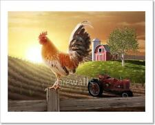 Country Farm Morning - 2 Art Print/Canvas Print Home Decor Wall Art