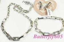 Brighton HUDSON LINK Crystal Necklace Bracelet Earrings Set - NWT Pouch $228