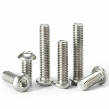 M4 Button Head Socket Cap Screws Allen Bolts Hex Drive A2 Stainless Steel