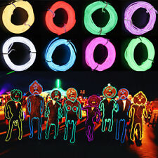 15FT Neon LED Light Glow EL Wire String Strip Rope Tube Car Dance Party + Remote