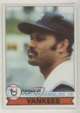1979 Topps Burger King Restaurant New York Yankees #12 Chris Chambliss Card