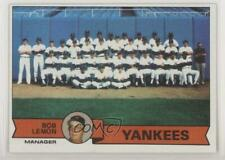 1979 Topps Burger King Restaurant #1 New York Yankees Team Bob Lemon Card