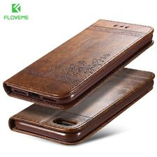 FLOVEME® Phone Bag Case For iPhone 7 6 6s Plus 5s 5 SE Leather Stand Wallet
