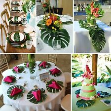 Large Artificial Tropical Palm Leaves Hawaiian Luau Party Beach Decor For Table