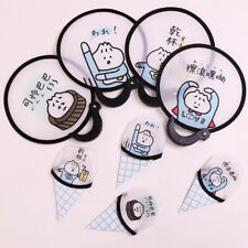 Portable Cute Cartoon Pattern Fan Foldable Small Round Hand Fans Summer Gifts