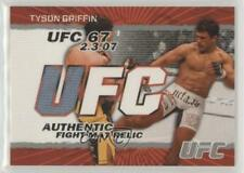 2009 Topps UFC Authentic Fight Mat Relic #FM-TG Tyson Griffin MMA Card