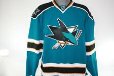 NEW Mens REEBOK San Jose SHARKS 7187 Teal CCM NHL Edge Hockey Jersey