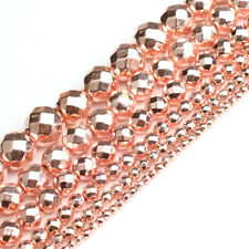 Natural Rose Gold Hematite Beads for Jewelry Making Facted Beads Strand 15''