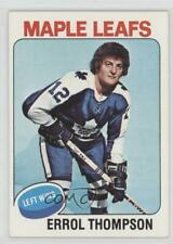 1975-76 Topps #114 Errol Thompson Toronto Maple Leafs RC Rookie Hockey Card