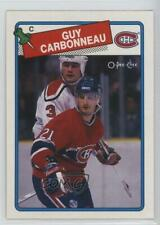 1988-89 O-Pee-Chee #203 Guy Carbonneau Montreal Canadiens Hockey Card