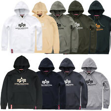 Alpha Industries Men's Hoody Basic Hoodie Pullover Hoodie S to 3XL