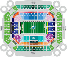 4 Upper Level tickets 9/23 Oakland Raiders at Miami Dolphins 301 Row 1 NFL