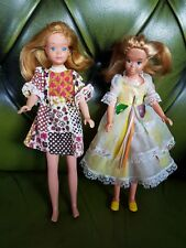 2 Vintage Retro Redhead Skipper Barbie Sister Doll Figure Toys clothes/shoes lot