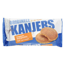 Kanjers syrup waffles (stroopwafels): different tastes with Belgian chocolate.