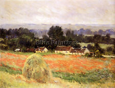 MONET CLAUDE HAYSTACK AT GIVERNY ARTIST PAINTING OIL CANVAS REPRO WALL ART DECO