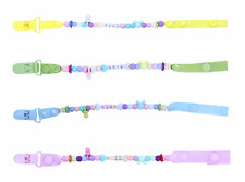 Baby Girl & Boys Dummy Pacifier Soother Nipple Chain Clip Toy Beads Chain Holder