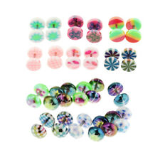 6pcs Stainless Steel Tapers Cheater Faux Fake Ear Plugs 14g Stud Earrings