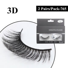 Gam-Belle® 2 pairs/set Natural Long Thick False Eyelashes Makeup Beauty Party