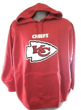 NEW Womens Majestic NFL Kansas City Chiefs Screen Print Football Pullover Hoodie