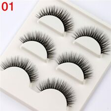 Gam-Belle® 3pairs/set 3D Mink Natural False Eyelashes Soft Long Full Strips Fake