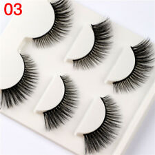 Gam-Belle® 3 pairs/set Extension Soft 3D False Eyelashes Makeup Fake Natural 03