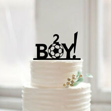 Buythrow® Happy Birthday Cake Topper Baby Boy Football Cake Topper Personalized