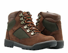 Timberland 6-Inch Field Boot Brown Nubuck/Olive Youth Little Kids Boots 44792