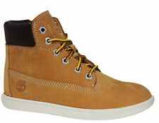 Timberland Groveton 6 Inch Youths Lace Up Side Zip Leather Boots Wheat A11VM D2