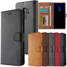 For Samsung Galaxy S7 S8 S9 + Note 8 9 Leather Wallet Magnetic Flip Case Cover