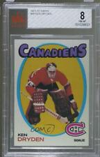 1971-72 Topps 45 Ken Dryden BVG 8 NM-MT Montreal Canadiens RC Rookie Hockey Card