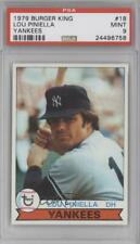 1979 Topps Burger King Restaurant New York Yankees #18 Lou Piniella PSA 9 MINT