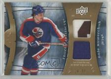 2009 Upper Deck Artifacts Frozen Jersey/Patch FA-DH Dale Hawerchuk Winnipeg Jets