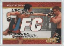 2009 Topps UFC Authentic Fight Mat Relic Gold #FM-KF Kenny Florian MMA Card