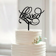Buythrow® Script Blessed Wedding Cake Topper Traditional Anniversary