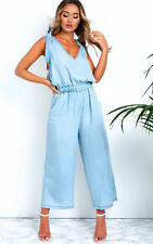 IKRUSH Womens Leanne Denim Jumpsuit