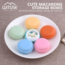 MINI MACARONS BOX CANDY COLOR FOR JEWELRY EARRING CASE OUTING STORAGE ORGANIZER