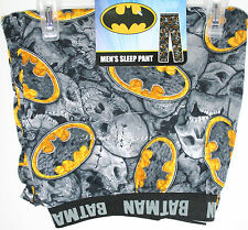 DC COMICS BATMAN BAT LOGO SKULLS MEN'S PAJAMAS Lounge sleep PANTS PJS XL NWT