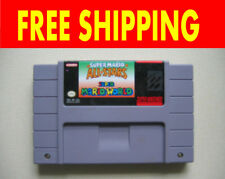SNES Super Nintendo Mario World All Stars Luigi Brutal Game Cartridge NTSC