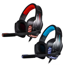 3.5mm LED Gaming Headset Mic Kopfhörer Stereo Surround for PS4 Xbox ONE PC J5Y3