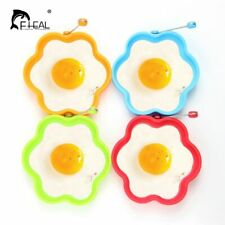 FHEAL®  Silicone Egg Rings Mold Non-stick Frying Omelet Mould Heart Flower Round
