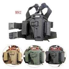 Tactic Right Thigh Quick Release Gun Pistol Holster For Glock M9 Colt 1911 P226